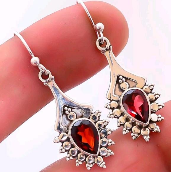 571b99639 Jewelry | Perfectelegant 925 Sterling Silver Garnet Earrings | Poshmark